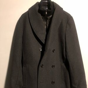 Pea Coat With inside Vest Liner Double Breasted
